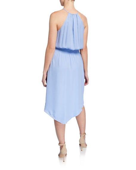 Parker Herley Silk Asymmetric Halter Dress