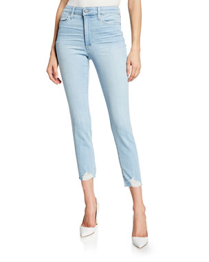 dcbff4ce8d2 Joe's Jeans The Charlie Crop Skinny Jeans with Destroyed Hem