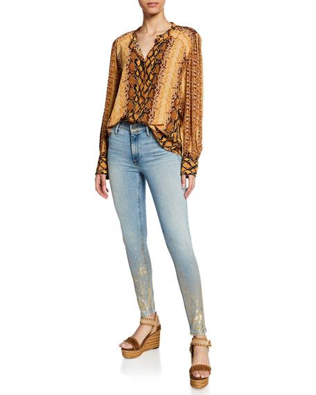 Black Orchid Gisele Super Skinny Foil Jeans