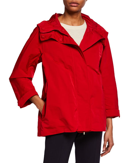 Max Mara The Cube Faille Raincoat Parka w/ 4 Pockets