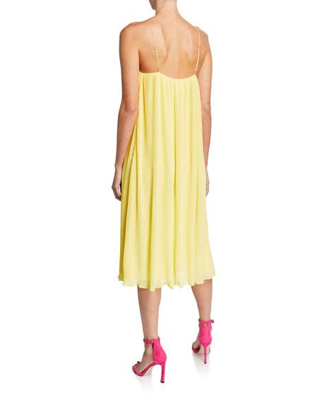 Mestiza New York Paloma Pleated Chiffon Halter Midi Dress