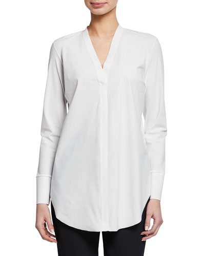 Icelyn V-Neck Long-Sleeve Shirt