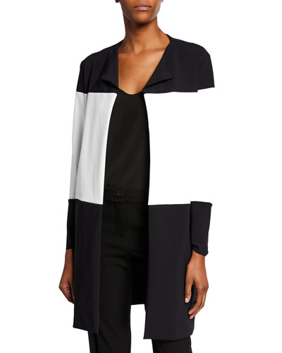 Sibylle Colorblock Open-Front Jacket