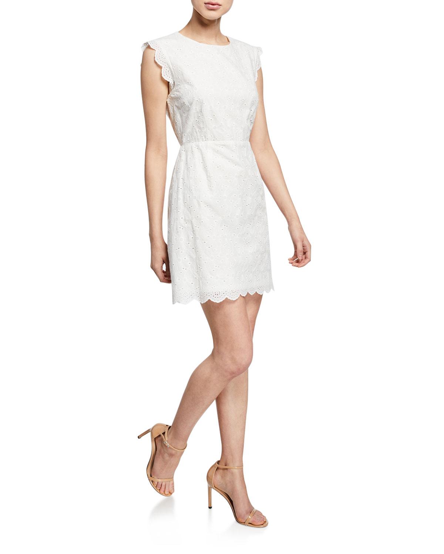 87822789fa Cupcakes and Cashmere Keren Sleeveless Eyelet Dress | Neiman Marcus