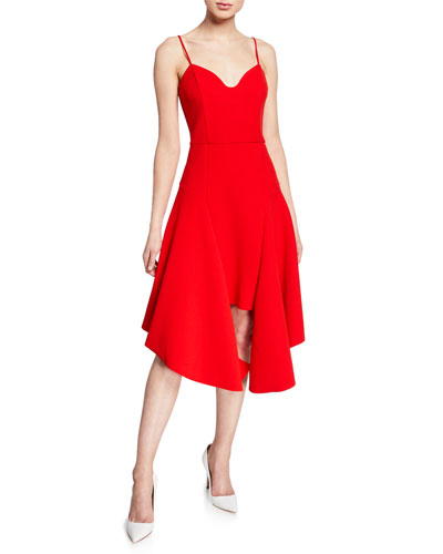 Petal Sweetheart Spaghetti-Strap High-Low Dress