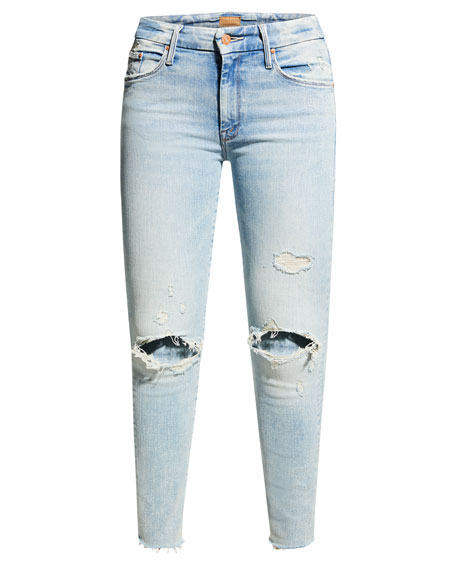 MOTHER The Looker Step Fray Skinny Jeans