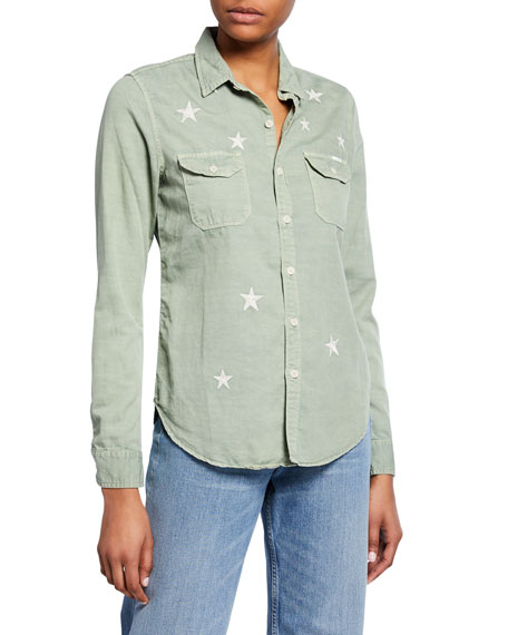 Mother T-shirts The Trooper Button-Down Shirt with Stars