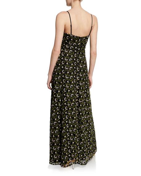 Jill Jill Stuart Embroidered Sweetheart Spaghetti-Strap A-Line Gown