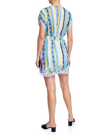 Emilio Pucci Printed Coverup Dress with Belt