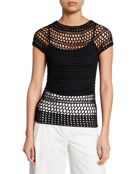 Theory Tissage Crochet T-Shirt