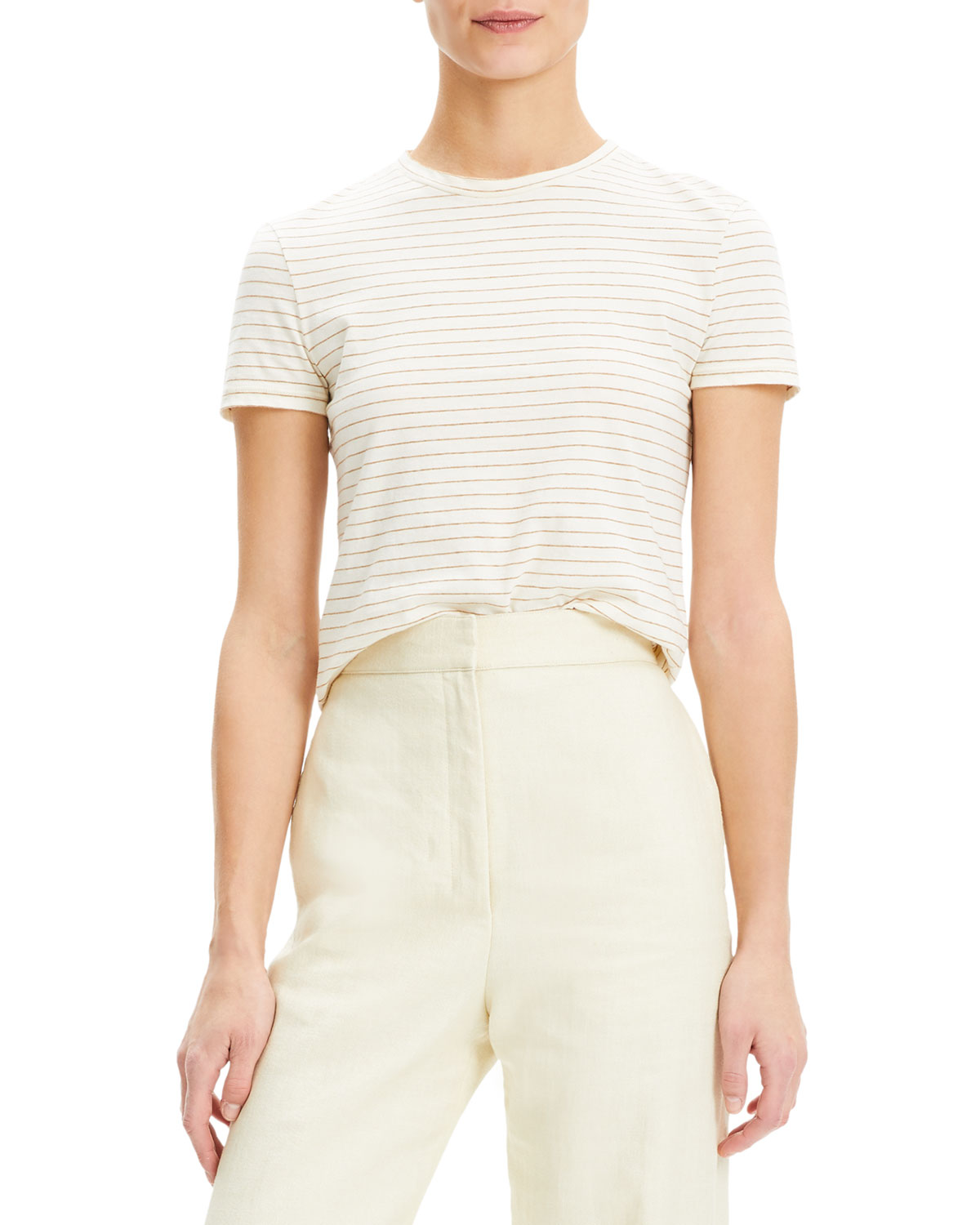 63d98519df Theory Tiny Tee 2 Shima Stripe Organic Cotton Top | Neiman Marcus