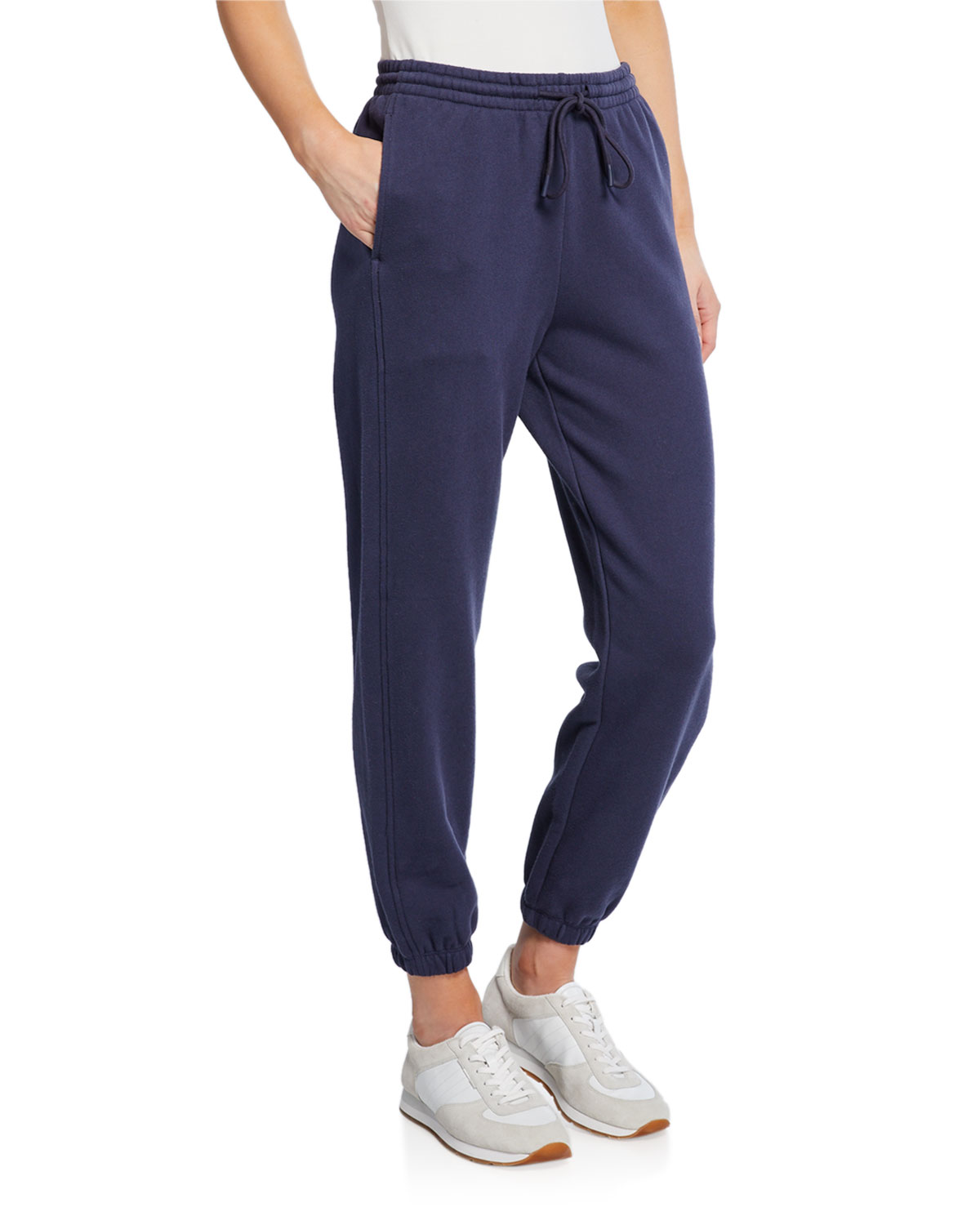 Drawstring Cotton Jogger Pants With Pockets by Vince