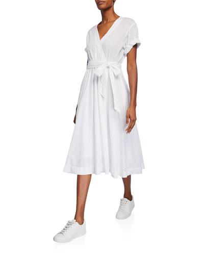 Winslow Short-Sleeve Midi Wrap Dress