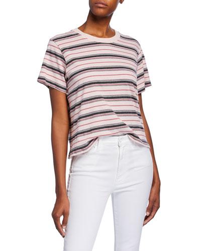 Jess Striped Short-Sleeve Cotton T-Shirt