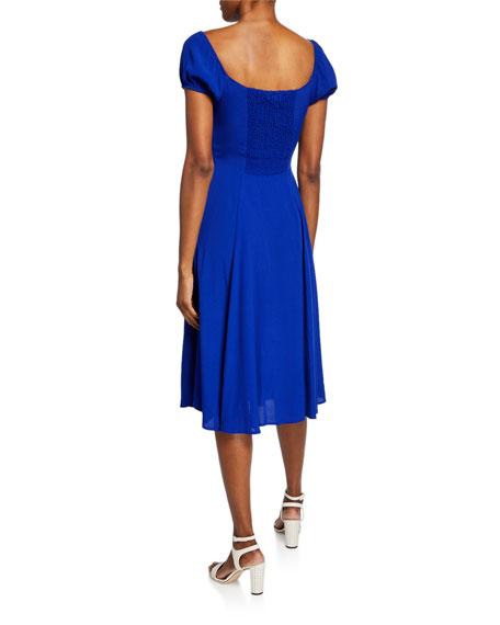 Yumi Kim Mercer Street Button-Front Short-Sleeve Midi Dress