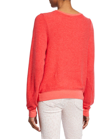 WILDFOX Love Signs Baggy Beach Pullover Sweater