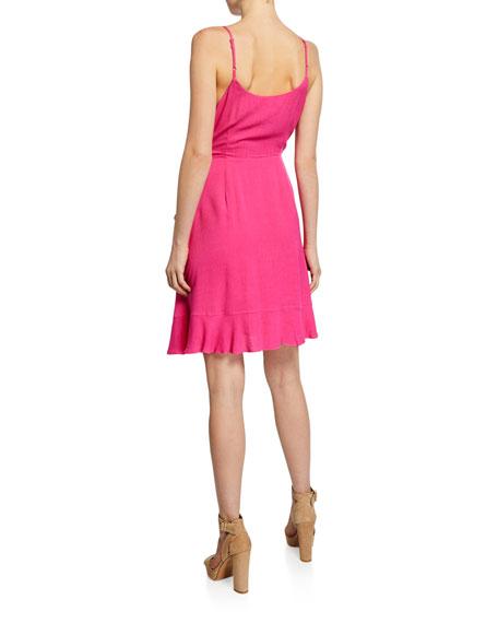 Cupcakes and Cashmere Catana Sleeveless Mini Wrap Dress
