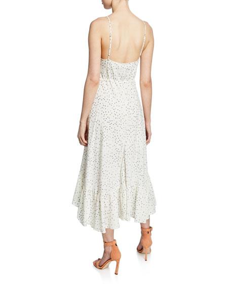 Rails Frida Speckled Midi Flounce Dress