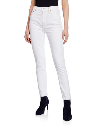 High-Rise Ankle Crop with Raw Hem