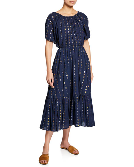 Rhode Frida Metallic Gauze Maxi Dress