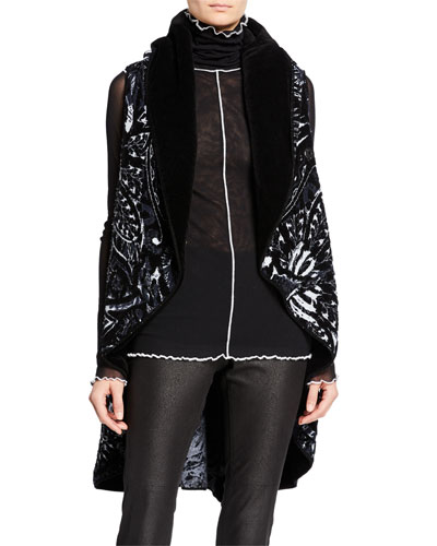 Open-Front Chenille Knit Vest