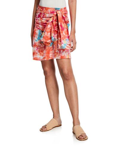Mabel Tie-Dye Wrap Skirt