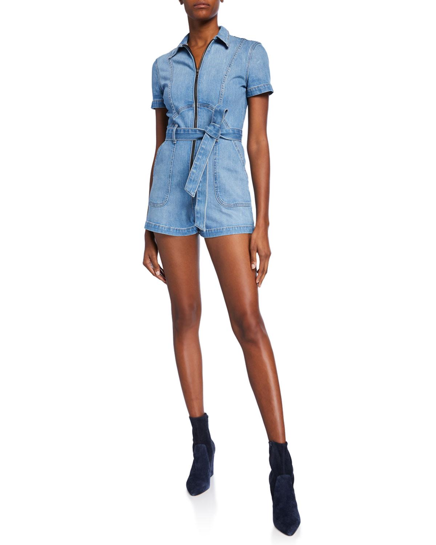 Gorgeous Short Denim Jumpsuit by Alice + Olivia Jeans