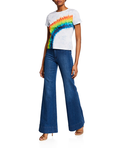 ALICE + OLIVIA JEANS Gorgeous Wide-Leg Trousers
