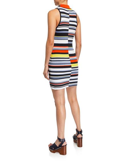 Rag & Bone Mason Striped Sleeveless Mini Dress