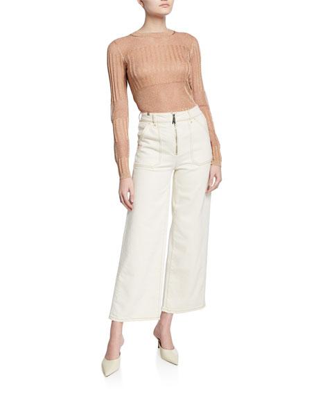 Atelier Notify Malia High-Rise Cropped Wide-Leg Jeans
