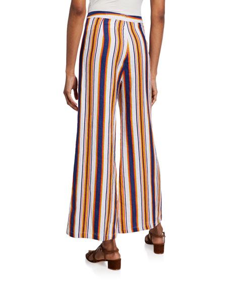 Faithfull the Brand Scelsi Striped Wide-Leg Pants