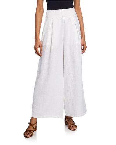 Meridian Wide-Leg Linen Pants