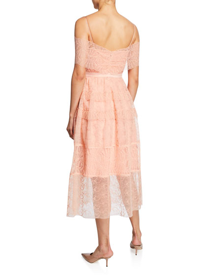 Image 2 of 2: Girl Talk Embroidered Tulle Midi Dress