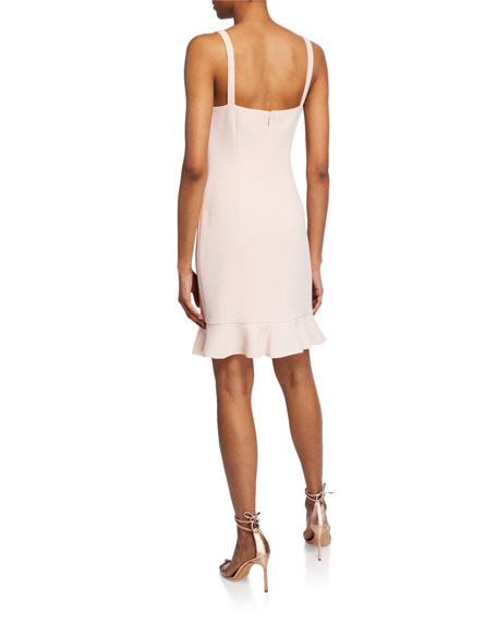 Rachel Zoe Darcie Square Neck Sleeveless Cocktail Dress