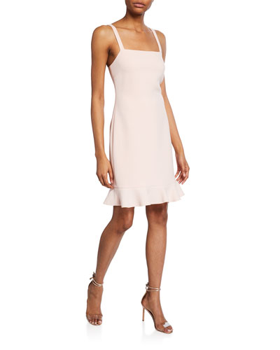 Darcie Square-Neck Sleeveless Cocktail Dress