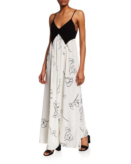 Rachel Pally Dianna Two-Tone Spaghetti-Strap Maxi Dress