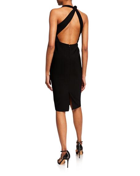 Misha Misu Asymmetric Halter Dress