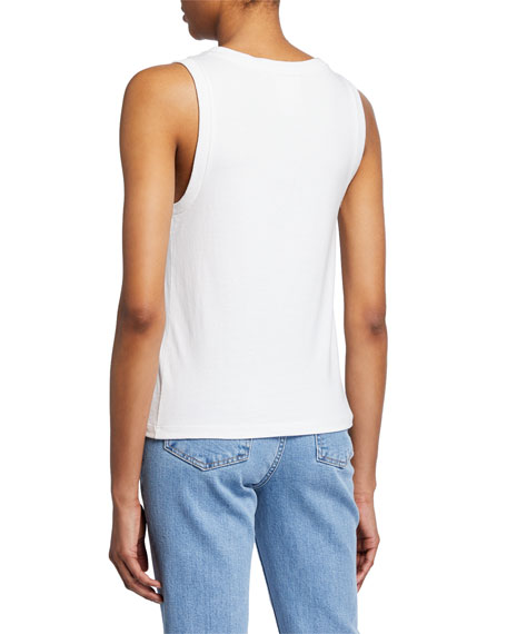 Helmut Lang Femme Side-Graphic Muscle Tank