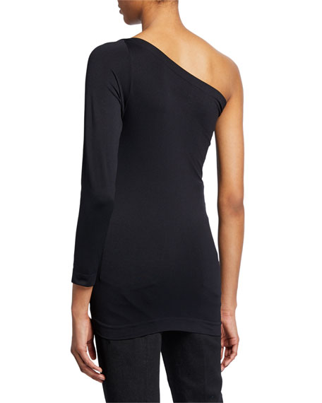 Helmut Lang One-Shoulder 3/4-Sleeve Top
