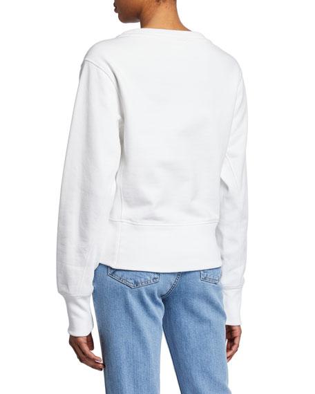Helmut Lang Femme Logo Crew Sweatshirt