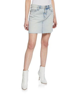 24d88dcbcf Current/Elliott The 5-Pocket Denim Mini Skirt