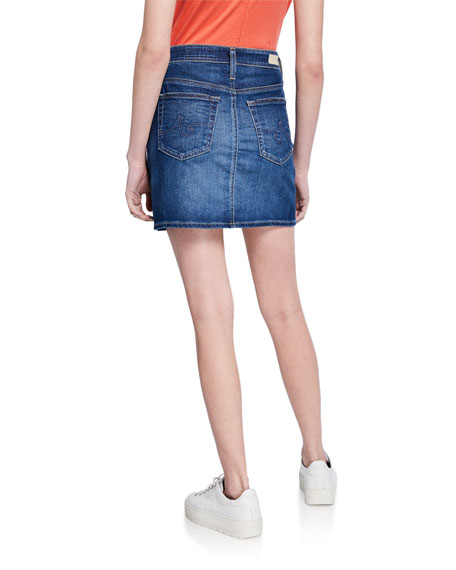 Image 2 of 3: AG Adriano Goldschmied The Vera Denim Short Skirt