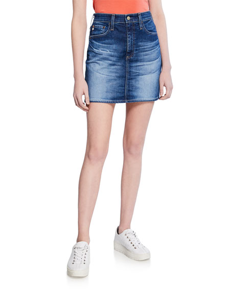 Image 1 of 3: AG Adriano Goldschmied The Vera Denim Short Skirt