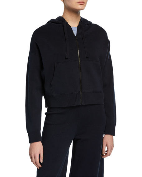 Vince Zip-Front Washed Hoodie Jacket