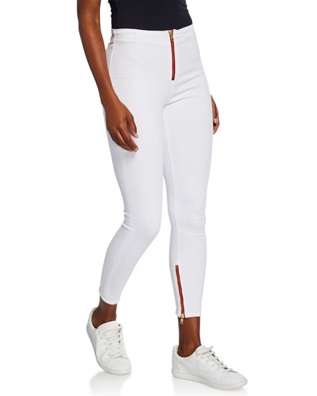 Etienne Marcel High-Rise Zip-Fly Skinny Ankle Jeans