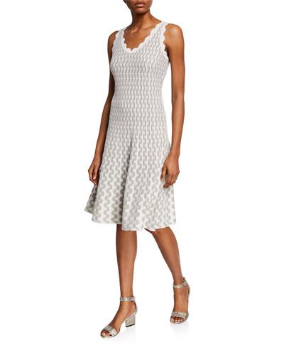 Plus Size Spring Fling Sleeveless Twirl Dress