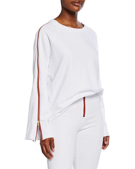 Etienne Marcel Zipper Bell-Sleeve Sweatshirt