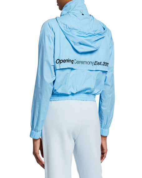 Opening Ceremony Cropped Baby Wind Jacket