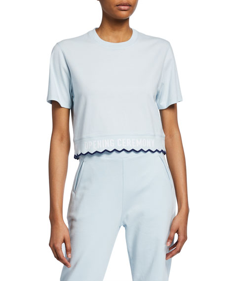 Opening Ceremony Scalloped Logo Cropped Tee
