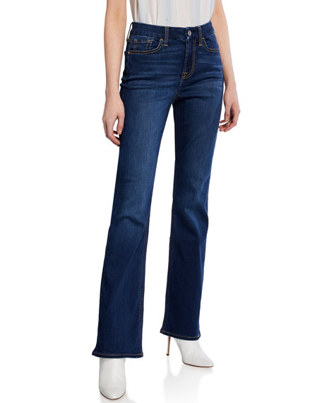 Jen7 by 7 for All Mankind Mid-Rise Slim Boot-Cut Jeans